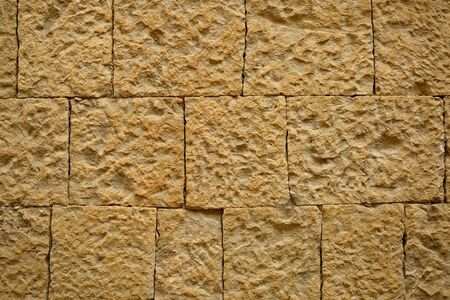 Photo of orange square bricks wall Imagens