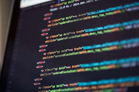 Programming code abstract background of software developer. Reklamní fotografie
