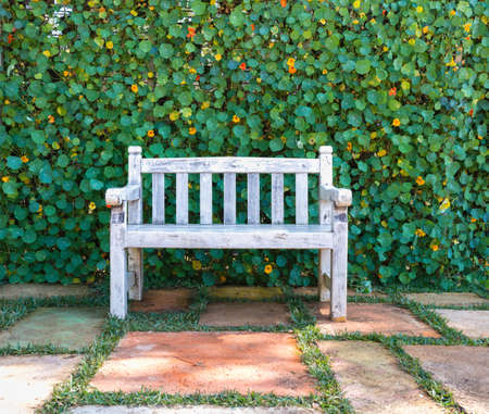 cottage garden: Wooden chairs in the garden back home