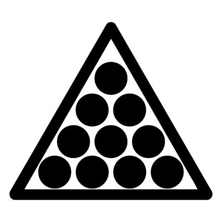 billiards rooms: Billiard balls triangle vector Illustration