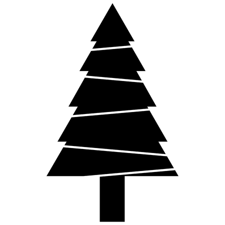 black christmas tree vector stock vector 54671343