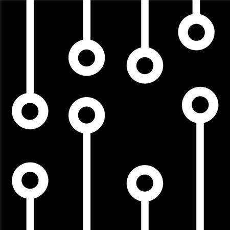 capacitor: Circuit, ic, processor icon Illustration