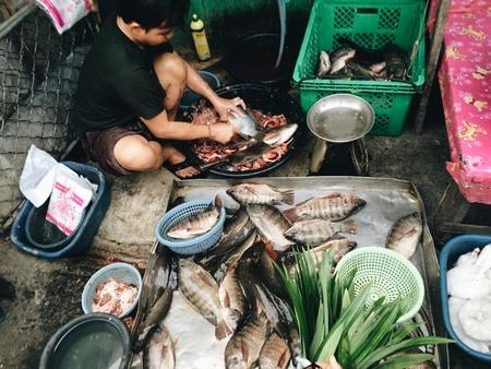 vendedor: Vendedor de pescado
