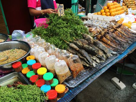 grill: Thai street food Stock Photo