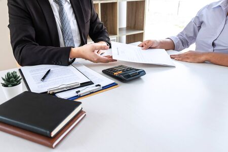 Employee sending resignation letter to boss employer consider in order to contract for quit or layoff of job leaving from work, resignation concept.