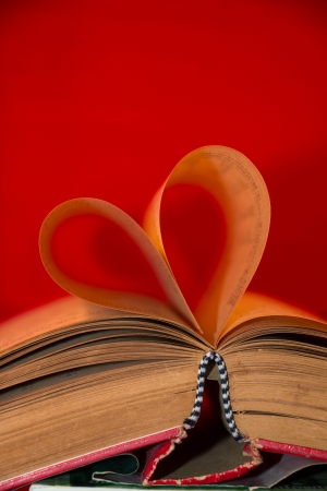 Book with heart shaped pages  photo