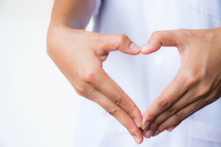 Heart hand Stock Photo