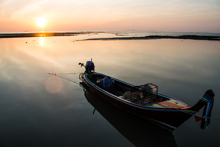 Fishing boat on the sea photo