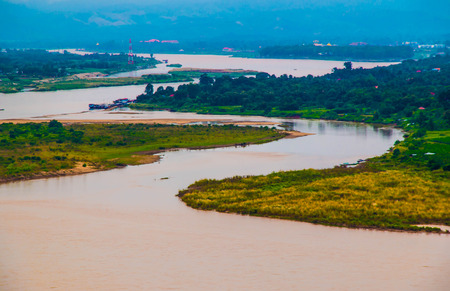 the river: Mekong river Stock Photo