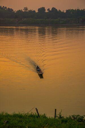 mekong: Fishing boat in the Mekong river
