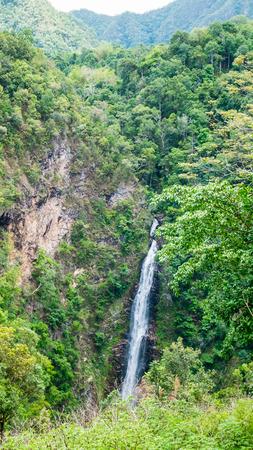 cataract falls: Mae Surin Waterfall in Maehongson Thailand