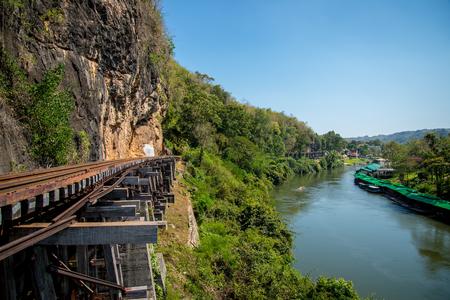 Death railway in Kanchanaburi Thailand