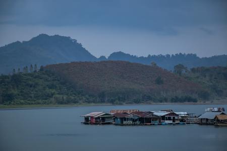 Pier in the river at Kanchanaburi Thailand