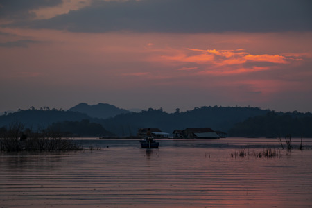 Sunset in the lake