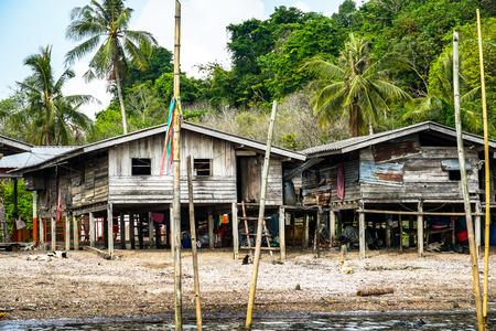Moken Village at Ko Lao Island Ranong Province Thailand