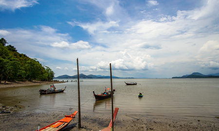 Fishing boat in the sea Zdjęcie Seryjne