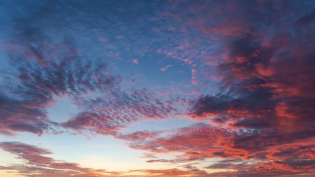 Colorful of clouds at sunrise
