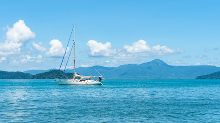 Sailboat in the Andaman sea of Thailand 写真素材