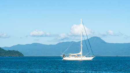 Sailboat in Andaman sea Thailand