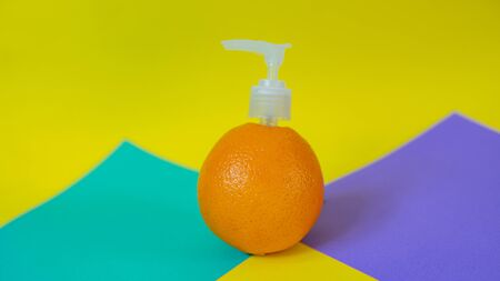 Orange spray is natural cosmetic
