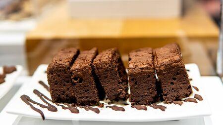 Brownie chocolate in coffee shop Archivio Fotografico - 133555190