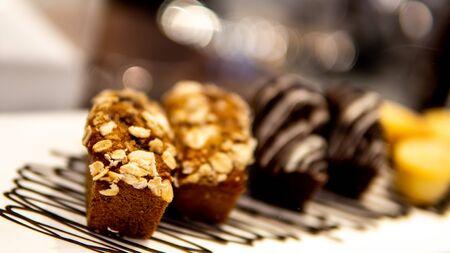 Brownie chocolate in coffee shop Archivio Fotografico - 133555193