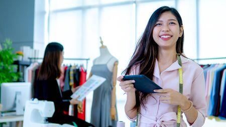 Young designer in garment industry