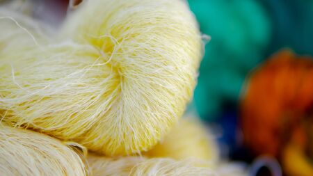 Silk thread in the silk factory Stockfoto - 137045537