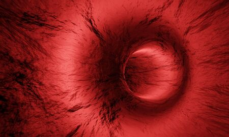 Mockup inside human blood vessel. 3D Rendering.   Stockfoto