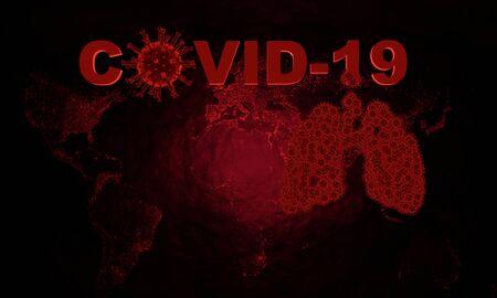 Coronavirus disease COVID-19 infection medical illustration.