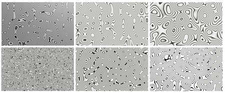 Black and white Damascus steel knife material pattern use for background and wallpaper.