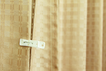 clasps: The clothespin on curtain Stock Photo