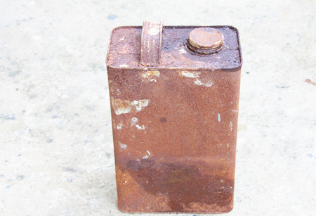 rusts: Old rectangular can with rusts
