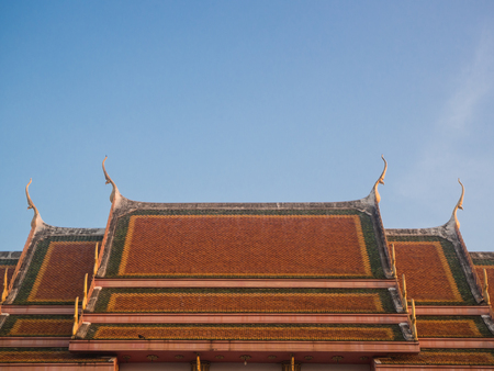 old style red roof tiles Asian architecture