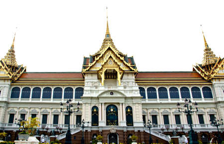 thialand: grand palace in white sky thialand