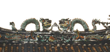 dragon on chinese roof top Stock Photo - 12312170
