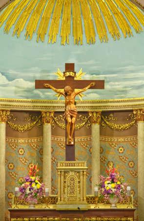 altar: jesus altar in santacruz church Editorial