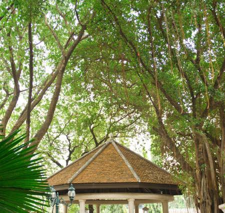 clam gardens: pavilion Stock Photo