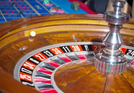 Roulette, a rolling ball. Bet on the table photo