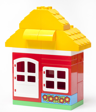 The house construction by colorful photo