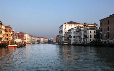 colorful Venice houses over water of Grand canal, Italy