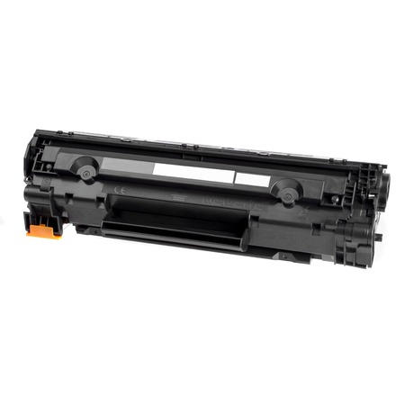 Cartridge for laser printer toner filled, ready to use on a white background Stock Photo