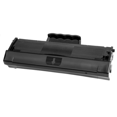 toner: Cartridge for laser printer toner filled, ready to use on a white background Stock Photo