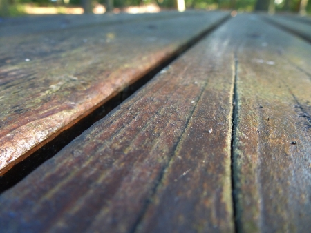 Wooden Table with Crack