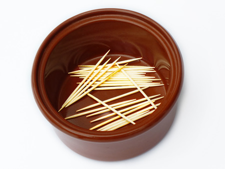 Clay Pot With Toothpicks