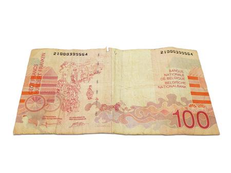 Old Belgian Money Bill Zdjęcie Seryjne