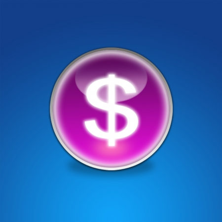 Web Button Dollar Sign photo