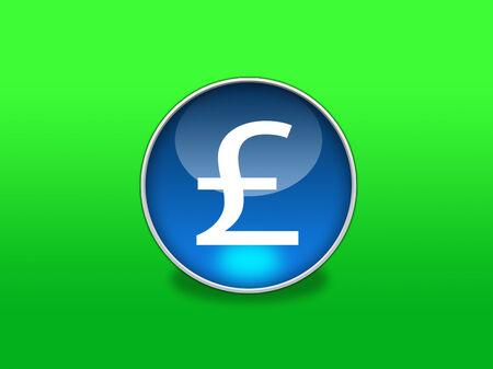 pound sterling: Web Button - Pound Sterling