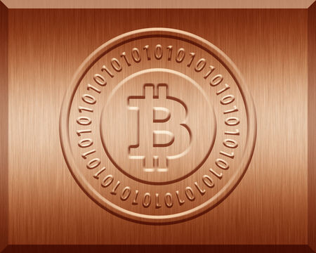 bronz: Bronz Bitcoin Plate
