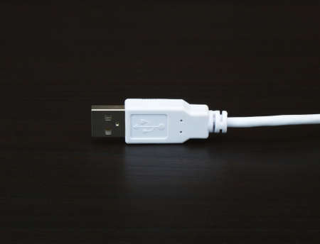 fiberoptic: USB Cable Stock Photo